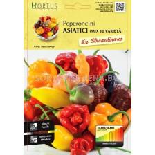 Люти чушки Азиатски микс - 10 вида (Peperoncini Asiatici ) - Chilies Asian mix