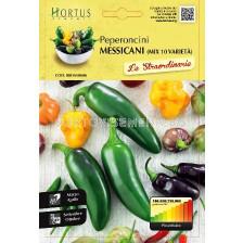 Люти чушки Мексикански микс - 10 вида (Peperoncini Messicani) - Chilies Mexican mix