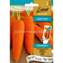 Моркови (CARROT) ROTE RIESEN 2 'SK  - на лента 4 м