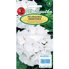 Семена Мушкато Гама F1 бяло / Pelargonium x hortorum Gama F1 white /LG 1 оп