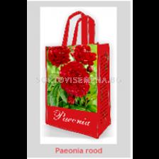 Божур Red 2/3 Подаръчна чанта - Peony Red 2/3 Gift bag