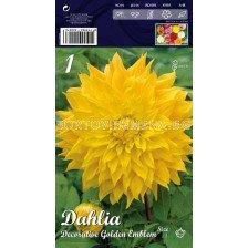 Далия (Dahlia) Decorative Golden Emblem
