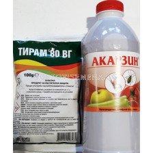 Есенно пръскане на овощни насаждения - 100гр Тирам + Акарзин 1л