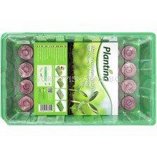 Plantina Саксии за разсад  Мини оранжерия 28 дупки + таблетки