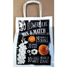 Подаръчна чанта Mix & Match ( бяло-оранжево)