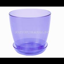 Саксия за орхидеи (прозрачна синя) - pot for orchid (blue)