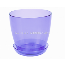 Саксия за орхидеи (прозрачна синя)