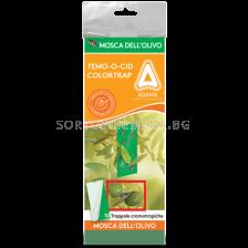 Леплив зелен капан за мухи (малък) Adama - 10бр
