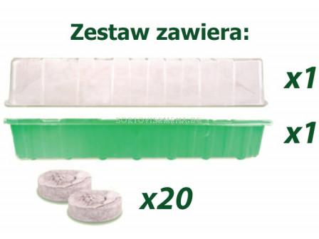 Plantina Саксии за разсад  Мини оранжерия 20 дупки + таблетки